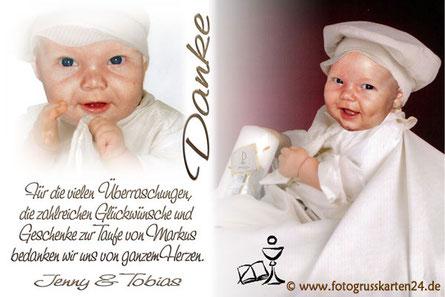 Danksagungskarten Taufe Dankeskarten