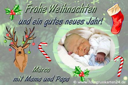 Weihnachtskarten Foto Namen