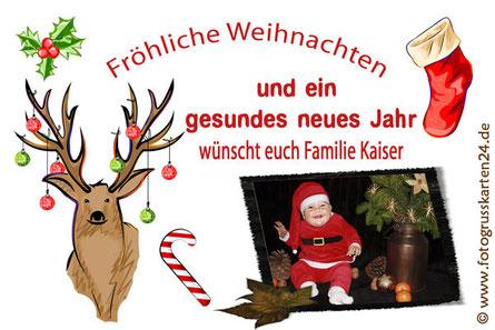 Weihnachten Grusskarte
