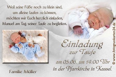 Taufeinladungen Einladungskarten zur Taufe