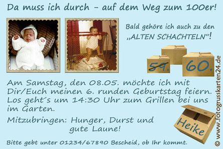 Einladungen Geburtstag Alte Schachtel Einladungskarten