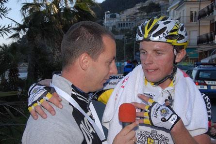 Foto courtesy: Daniel Schamps, il vincitore Mikhail Ignatiev intervistato a fine gara