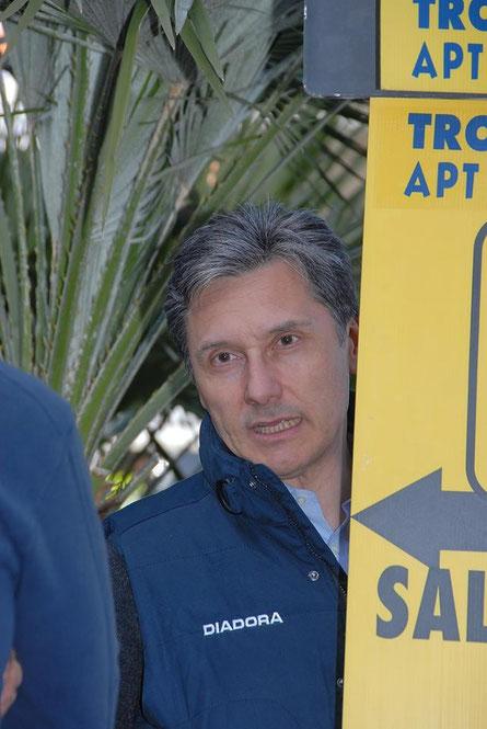Foto courtesy: Daniel Schamps, Beppe Saronni al Traguardo del Trofeo Laigueglia nel 2007.