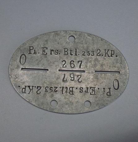 plaque d'identité allemande ww2
