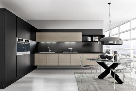 Photographie d'une cuisine modèle OMICRON de la marque ARMONY CUCINE