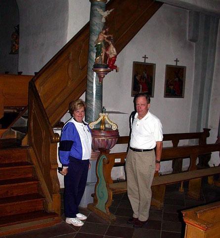 Charles Francis Loeher mit seiner Ehefrau
