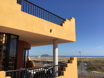 Ausblick zur Insel Lobos von Elenas Wohnung aus