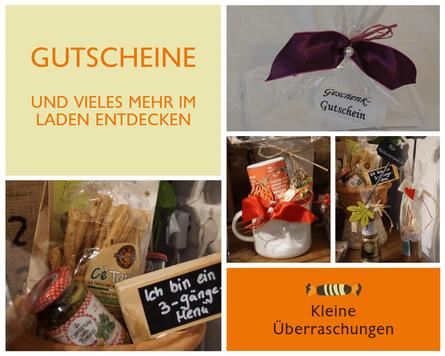 Geschenkgutscheine und mehr im Laden entdecken bei Vintetrez Rutesheim.