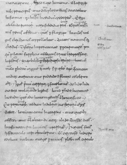 Codex Mediceus 68 II fol. 38 r: Cornelius Tacitus Annales 15:44