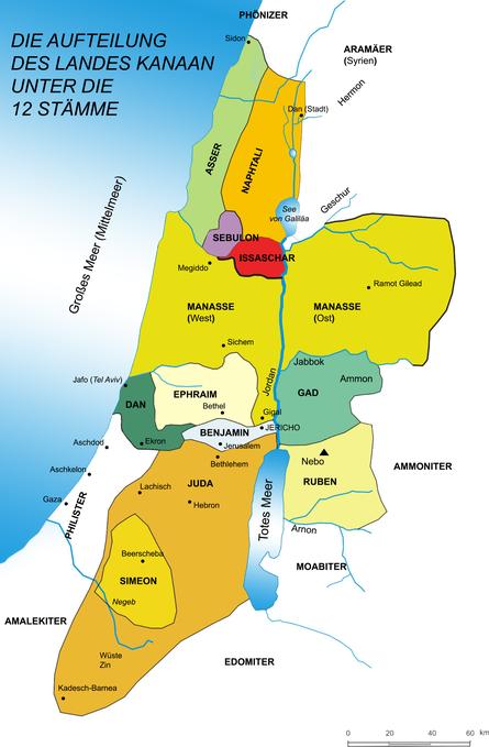 Aufteilung des Landes Kanaan