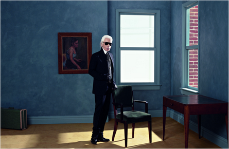 Karl Lagerfeld - Autoportrait - New-York 2011