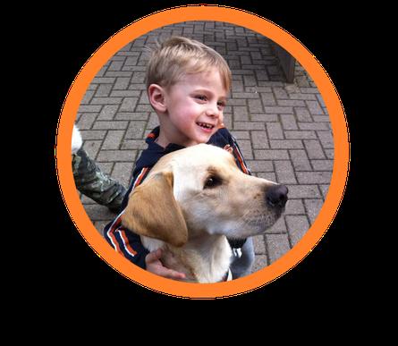 Autismushund  für Mathias aus Franken. Nach gründlicher Therapiehundeausbildung durch einen Assistenzhundetrainer, konnten beide zusammengeschult werden. Austismusbegleithunde  helfen Menschen, wie hier Mathias. Therapiehund  Ausbildung ist sehr wichtig.