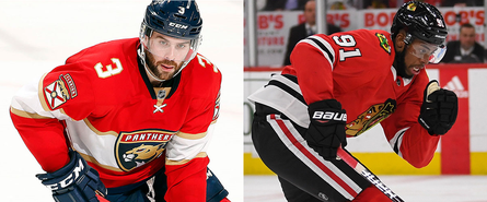 Keith Yandle (links) und Anthony Duclair
