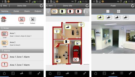 App Übersicht Siemens SPC Alarmzetralen