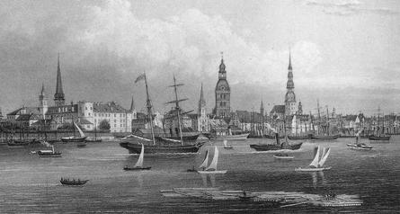 Riga, um 1850
