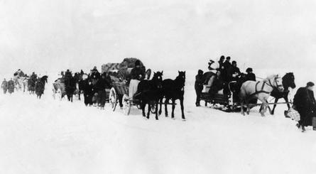 Flucht aus dem Samland, Winter 1945