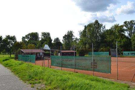 Tennisplatz und Tennisanlage SKG Stockstadt - Hütten mit Platz 1 und 2