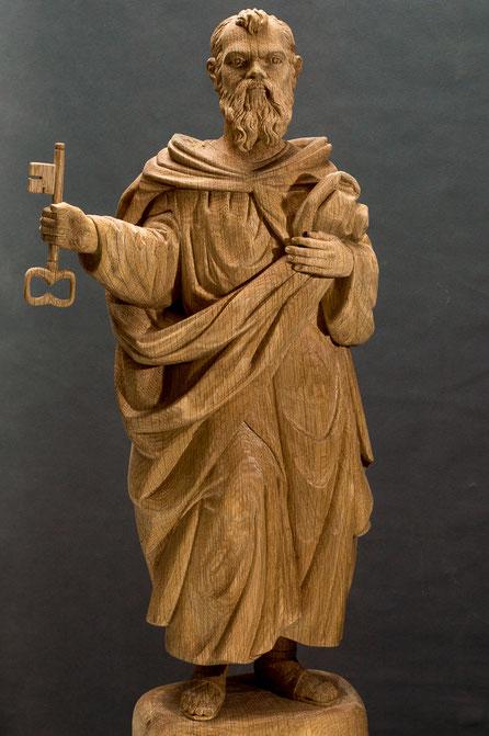 Heiliger Petrus aus Eiche, 50cm, 2018