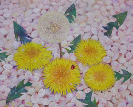 彩木ゆかり「やわらかい春」油彩・キャンバス・F3