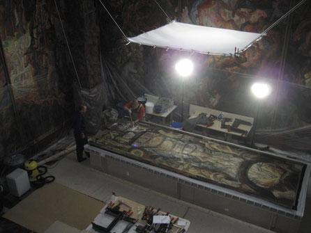 Kunststätte Bossard Tempel 2. Zyklus Restaurierung