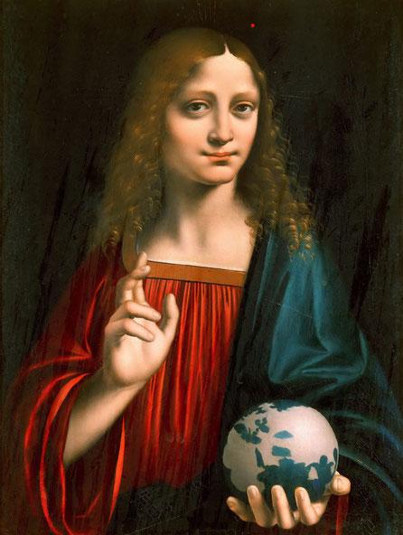 マルコ・ドッジョーノ《サルバトール・ムンディ》1500年 ボルゲーゼ美術館所蔵。