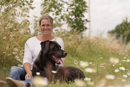 Über mich Svenja Pape mit meinem Hund Balu