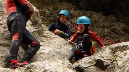 Canyoning dans les Pyrénées orientales, le canyon des gorges de galamus
