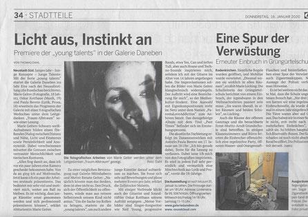 Kölnische Rundschau 16.1.20