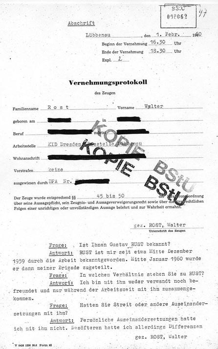 Hauptamtliche Stasi Mitarbeiter Liste