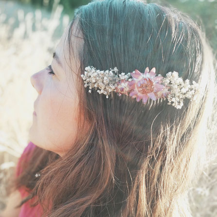 Blumen-Haarkämme