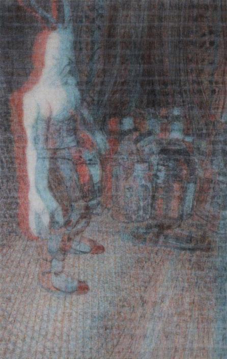 Sub Image(figure)  227x145cm, oil on canvas, 2011