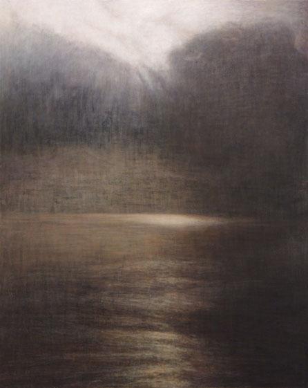 """Untitld (death and rebirth 6) 162.1x130.3cm, oil on canvas, 2005"