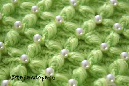 Punto smock tejido a crochet
