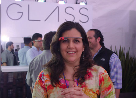 Tejiendo Perú en el Google Press Summit 6.0 en México (Google Glass)