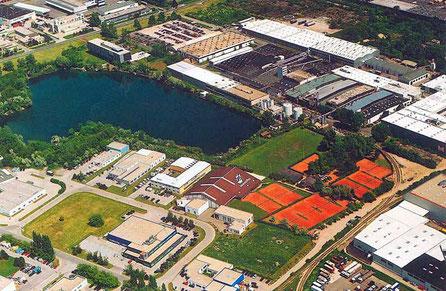 Luftbildaufnahme des Vereinsgeländes