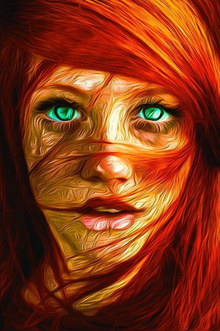 Portrait und Ölgemälde geschaffen von SahraLatifa Warrelman Arbeit in Photoshop