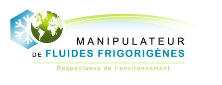 Logo fluide frigorigène pose climatisation