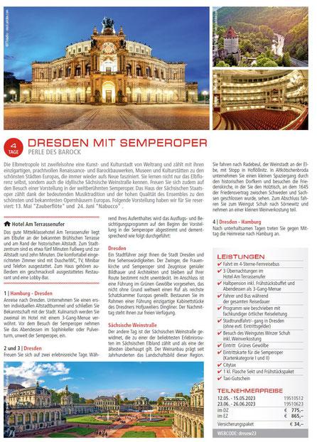Busreise Dresden mit Semperoper