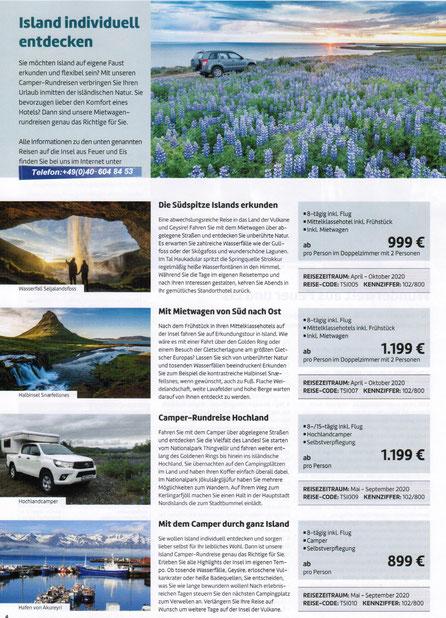 Island Mietwagenrundreisen bei Singer Reisen und Versicherungen preiswert buchen