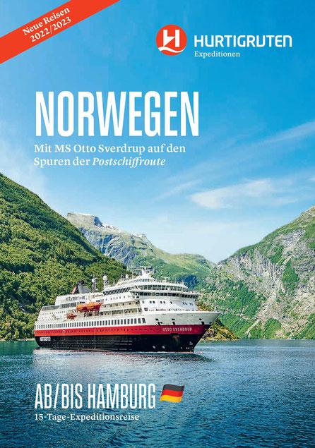 Mit Hurtigruten & Singer Reisen+Versicherungen nach Norwegen - Island - Westeuropa mit MS Fridjof Nansen