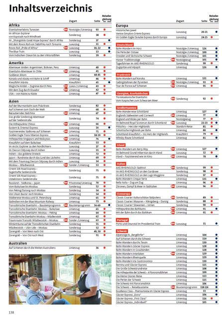 Alle Bahnreisen europa und Weltweit bei Singer reisen & versicherungen mit Frühbuchervlorteilen buchen