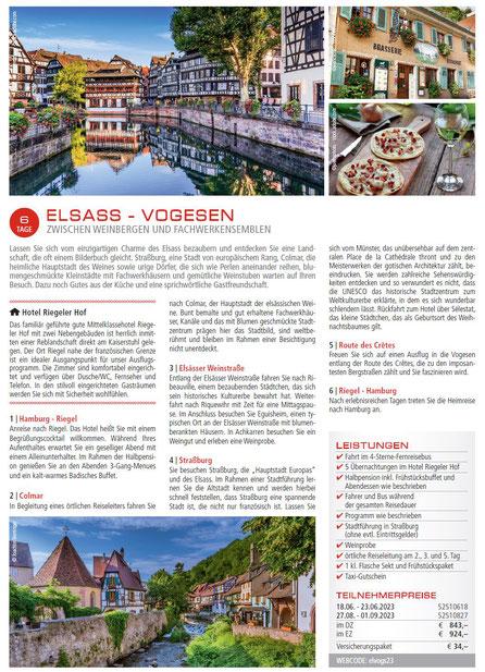 Elsaa und Vogesen Busrundreisen bei Singer reisen & versicherungen buchen...