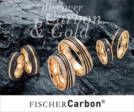 Carbon Eheringe in Dinkelsbühl von Juwelier Dragon