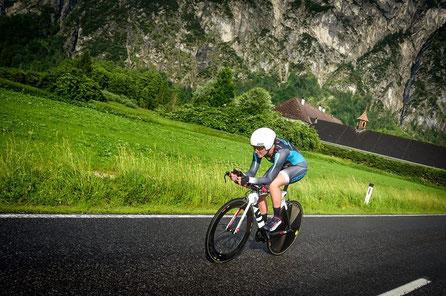 Astrid Magnet Einzelzeitfahren Triathlon