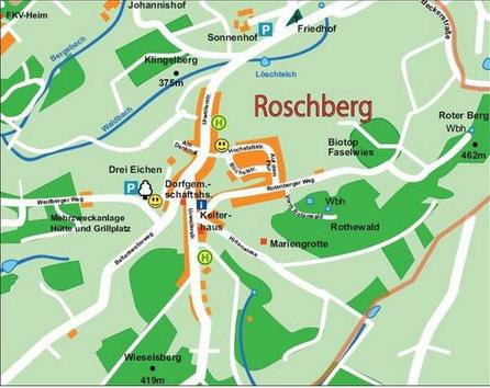 Ortsplan Roschberg