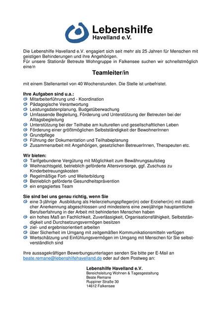 Betreuer/In Ambulant Betreutes Wohnen