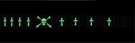 Skull & Celtic Cross - Moon Glow - Lights off