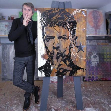 Lungötz, Künstler, Maler, Artist,  Salzburg, Atelier,  David Bowie