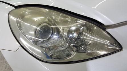 レクサスSC430のライトの黄ばみ汚れ・ひび・曇り