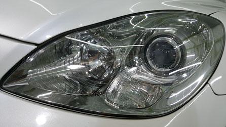 ヘッドライト黄ばみ除去後のSC430